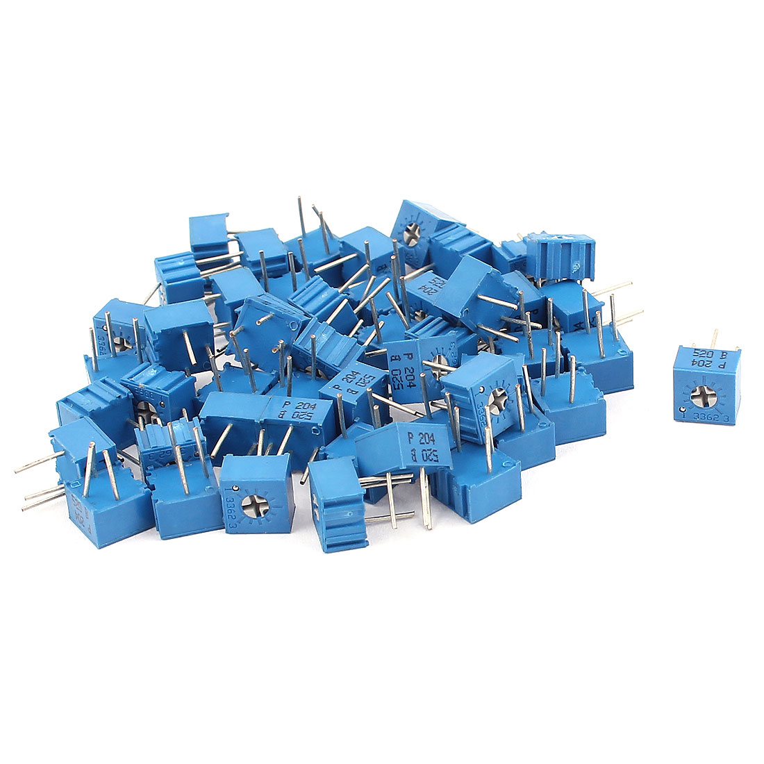 50Pcs Adjustable Potentiometer Trimmer Variable Resistor 3362P-204 200K Ohm