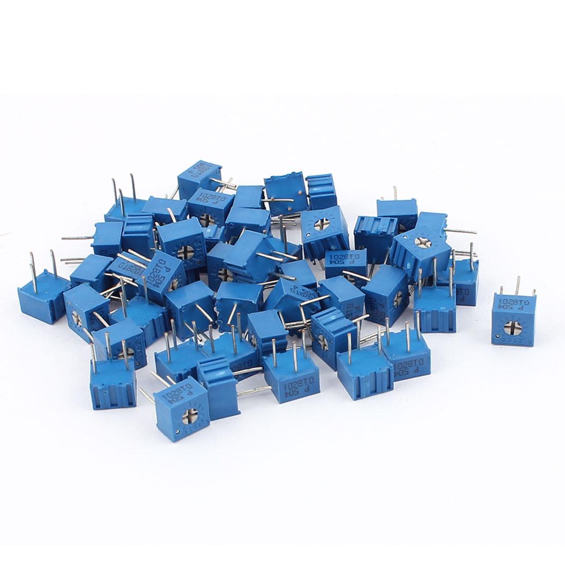 50Pcs Adjustable Potentiometer Trimmer Variable Resistor 3362P-504 500K Ohm