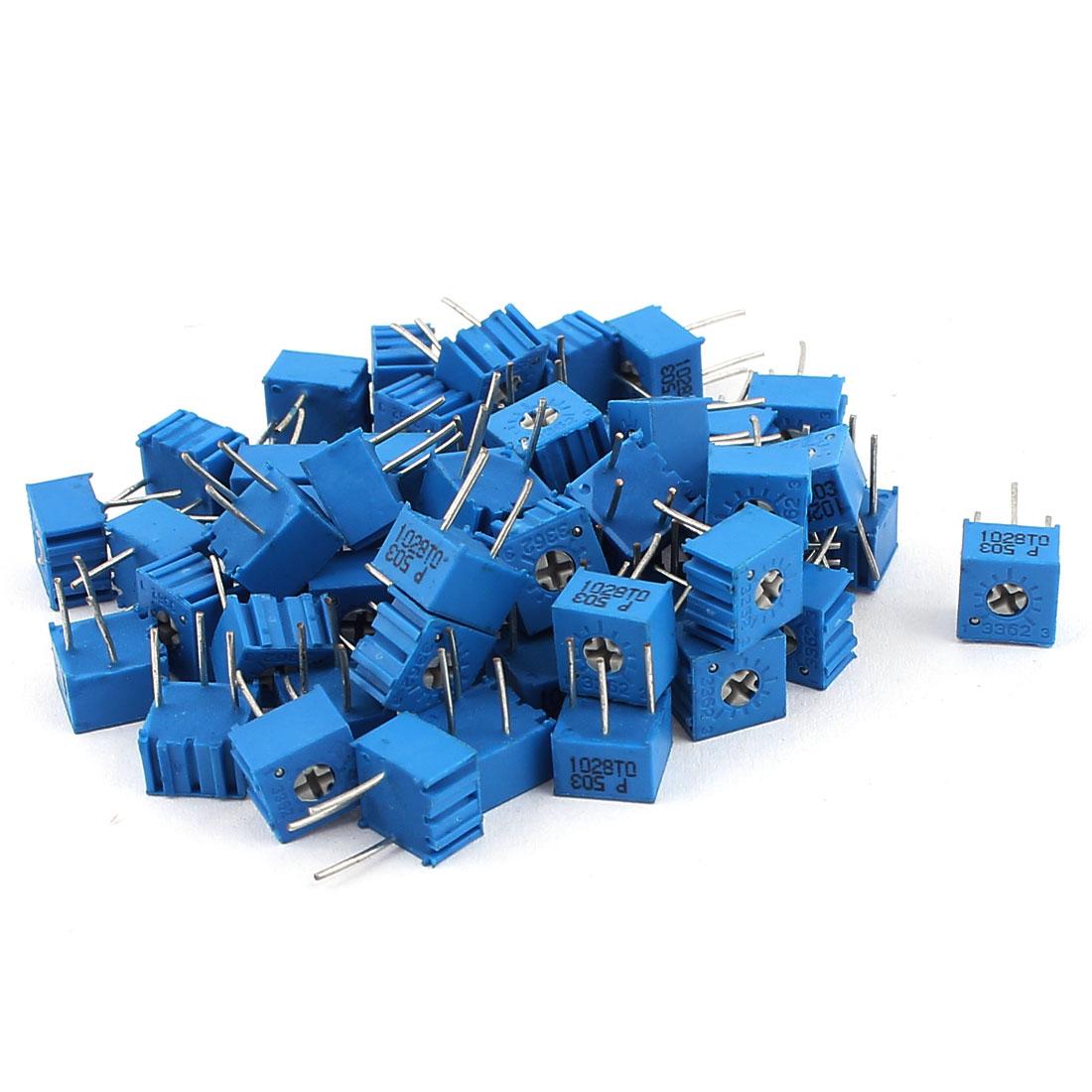 50Pcs Adjustable Potentiometer Trimmer Variable Resistor 3362P-503 50K Ohm