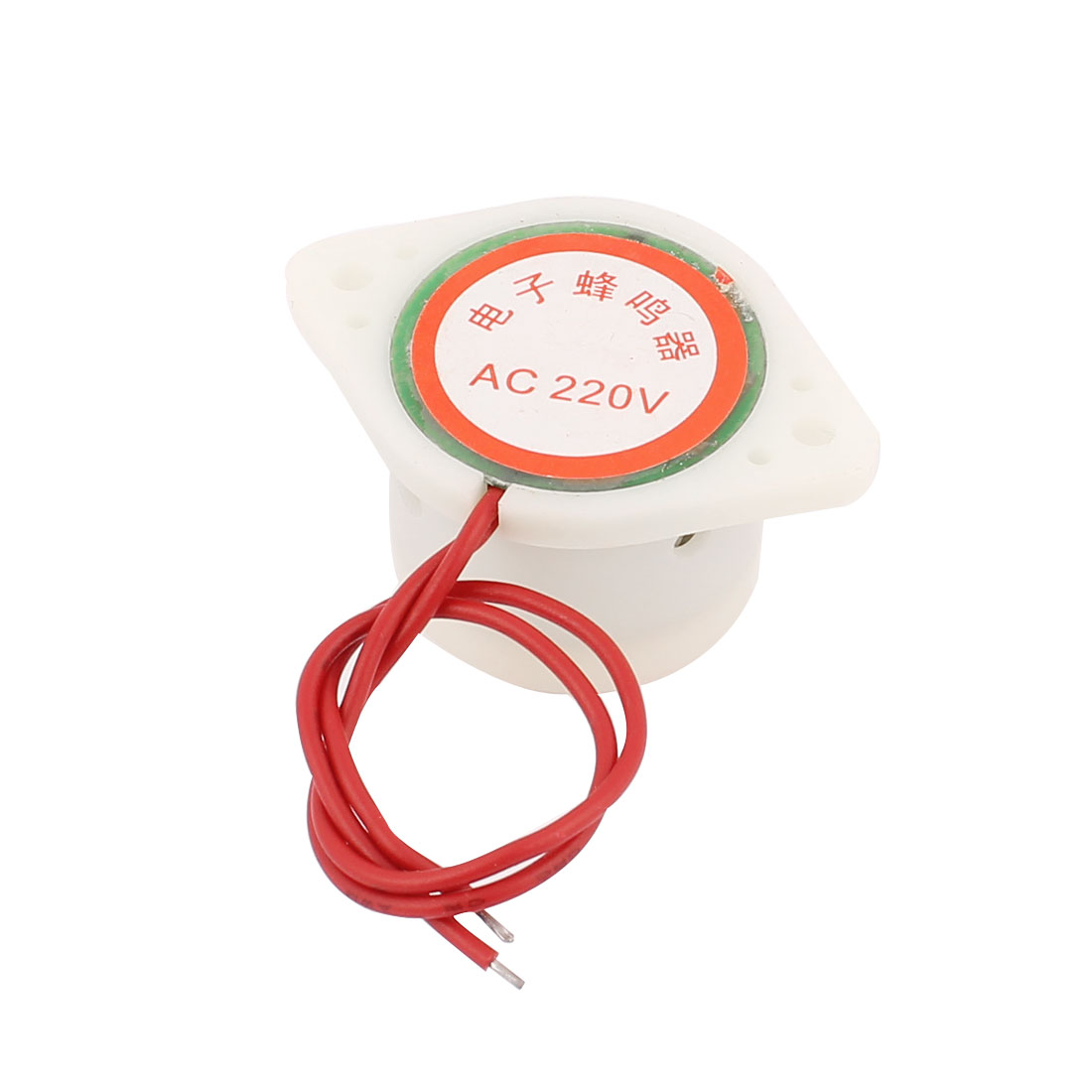 AC 220V Industrial Electronic 2-Wires Cylinder Music Sound Buzzer White
