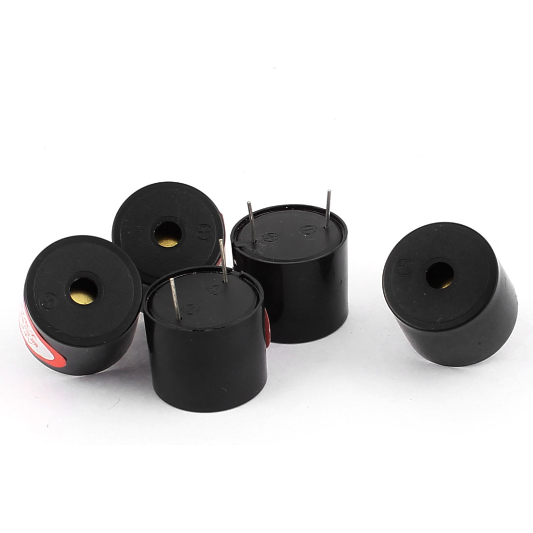 DC 3-24V Industrial Electronic 2 Terminals Cylinder Continuous Sound Buzzer 5Pcs