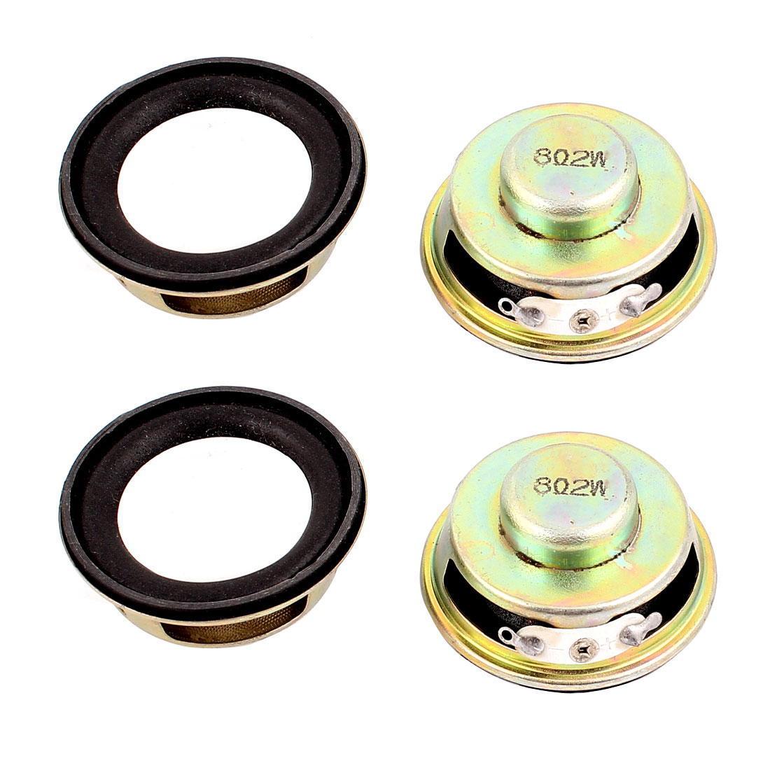 2W 8 Ohm Internal Magnet Speaker Loudspeaker 4 x 1.8cm 4Pcs