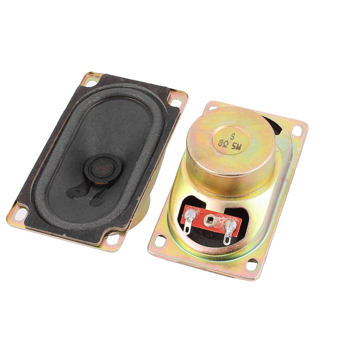 5W 8 Ohm Internal Magnet Speaker Loudspeaker 5cm x 9cm x 3.5cm 2Pcs