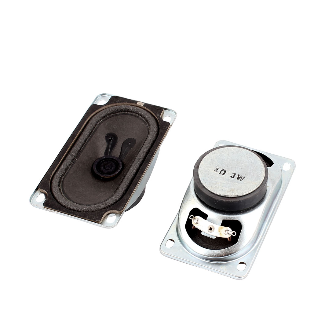 3W 4 Ohm External Magnet Speaker Loudspeaker 5 x 9 x 3cm 2Pcs