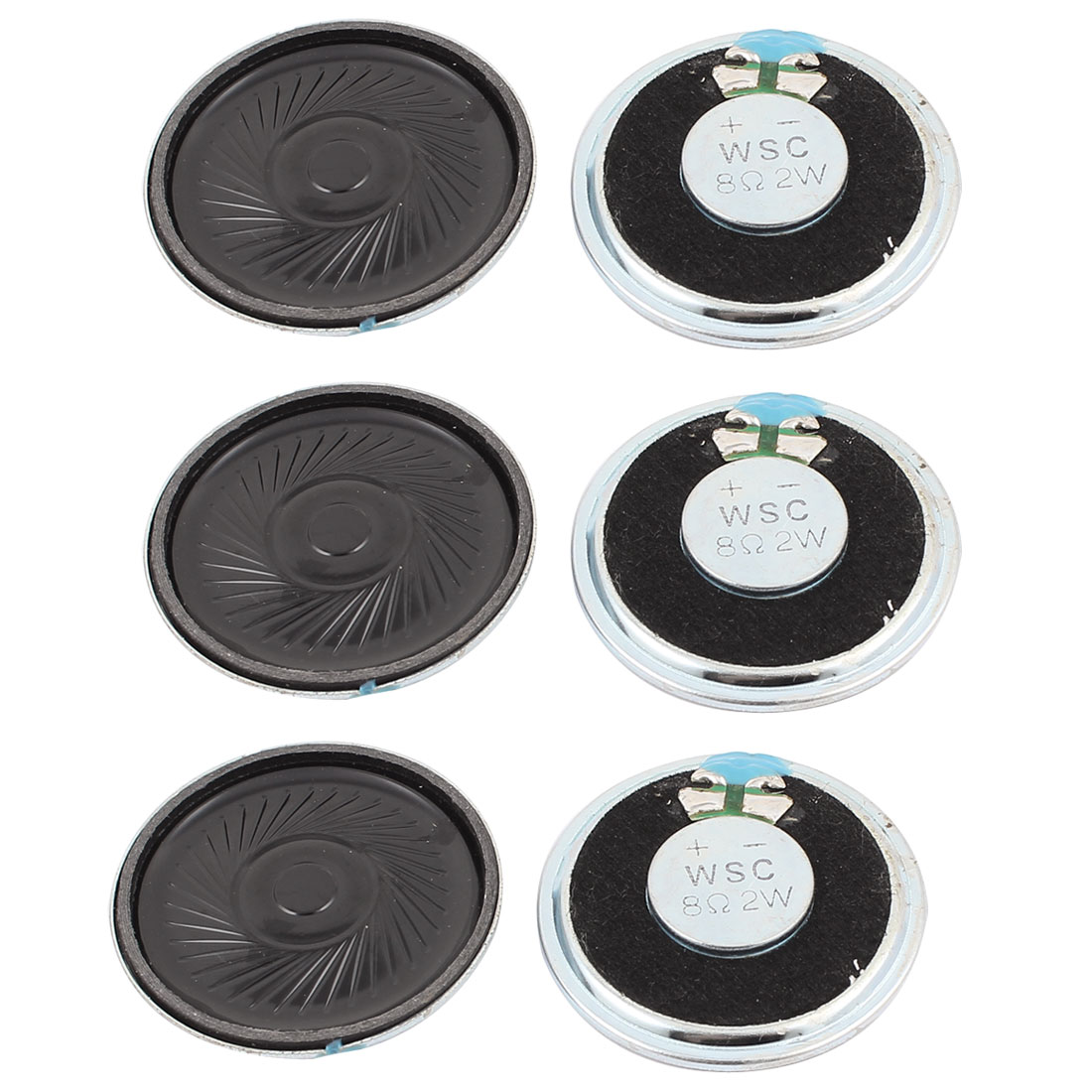 2W 40mm Diameter 8 Ohm Internal Mini Magnet Speaker Loudspeaker 6Pcs