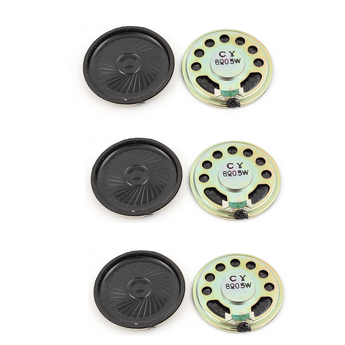 0.5W 45mm Diameter 8 Ohm Internal Mini Magnet Speaker Loudspeaker 6Pcs