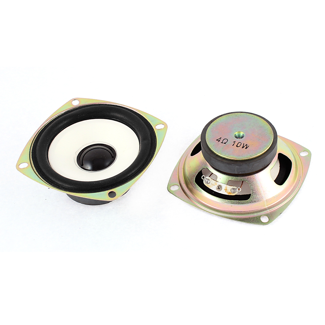 10W 4 Ohm External Magnet Speaker Loudspeaker 75mm x 30mm 2Pcs
