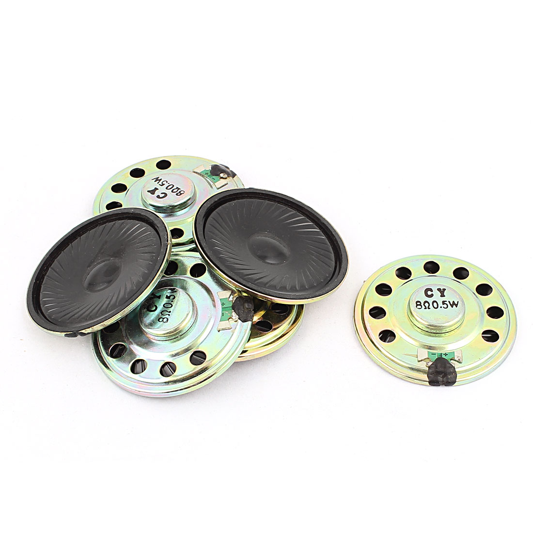 0.5W 50mm Diameter 8 Ohm Internal Mini Magnet Speaker Loudspeaker 6Pcs