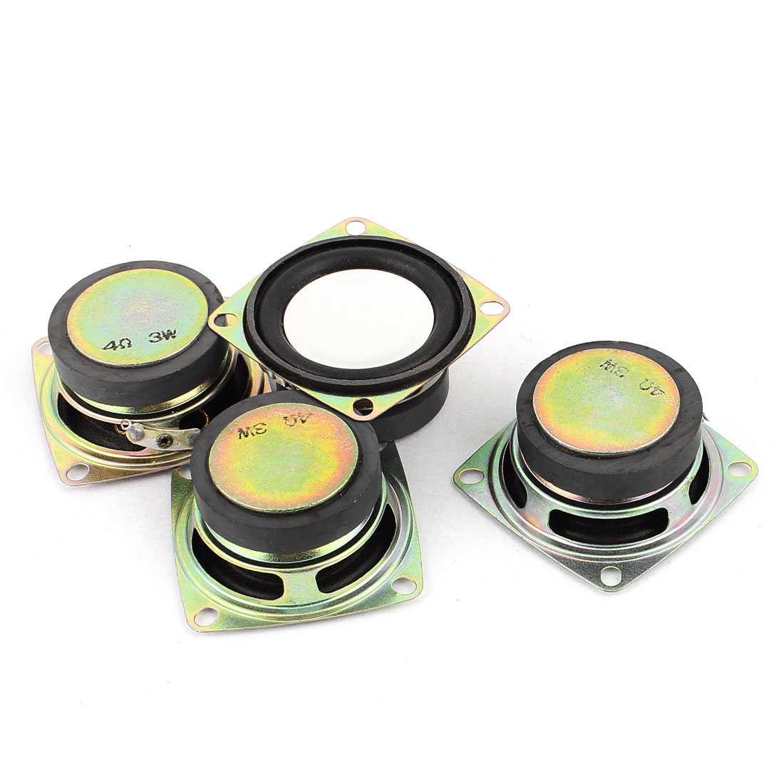 3W 4 Ohm External Magnet Speaker Loudspeaker 52 x 52 x 23mm 4Pcs