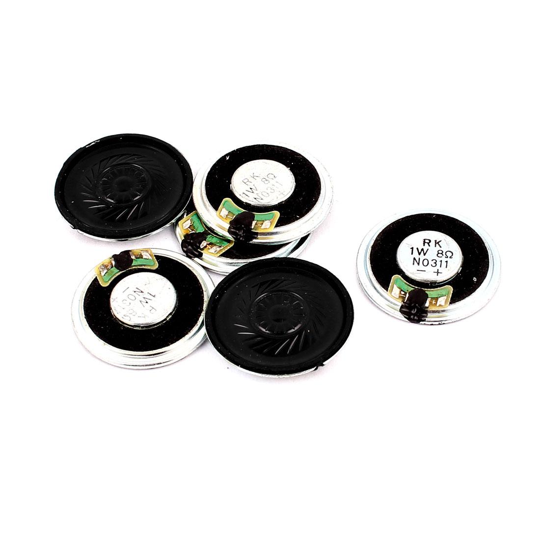1W 36mm Diameter 8 Ohm Internal Mini Magnet Speaker Loudspeaker 6Pcs