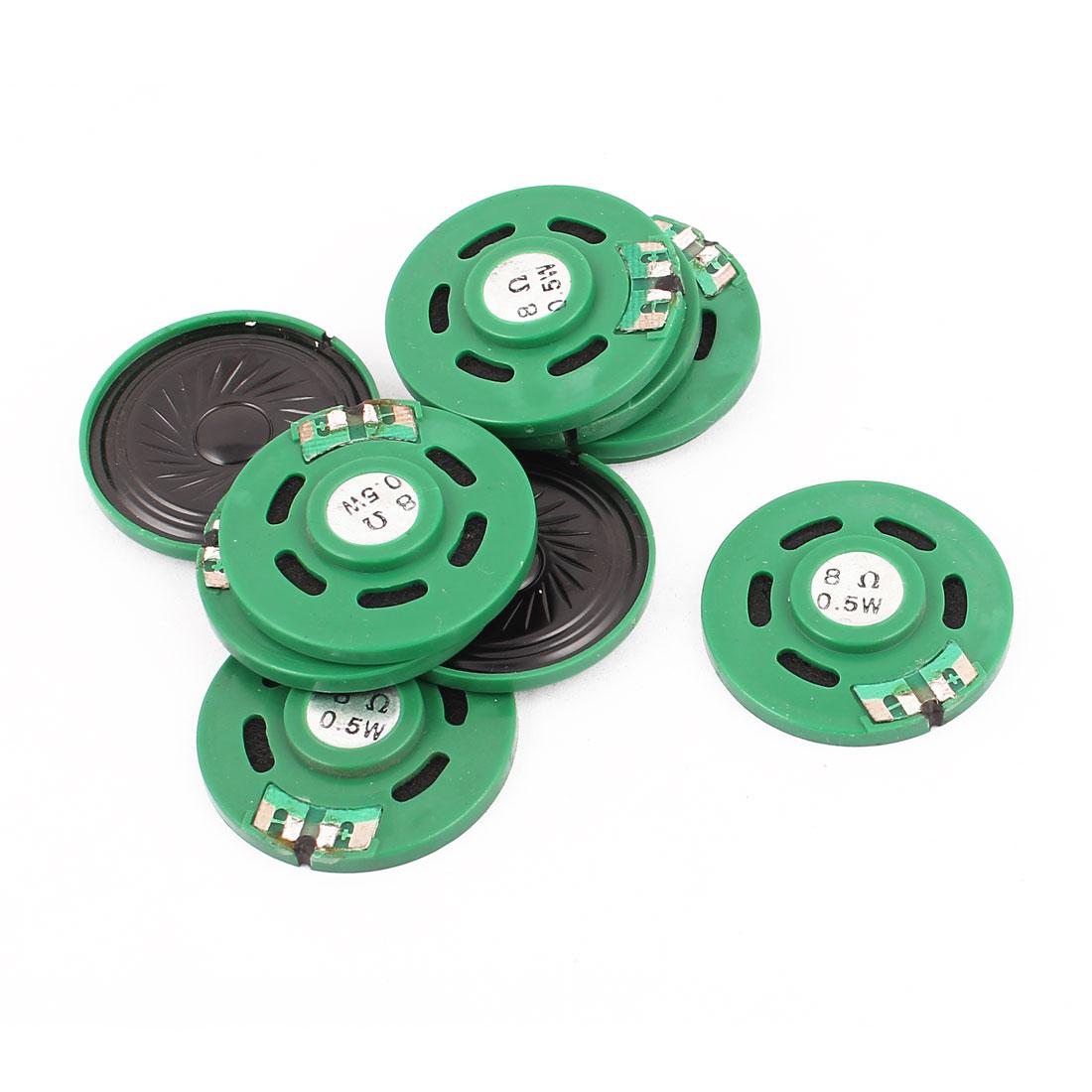 0.5W 40mm Diameter 8 Ohm Internal Mini Magnet Speaker Loudspeaker 10Pcs