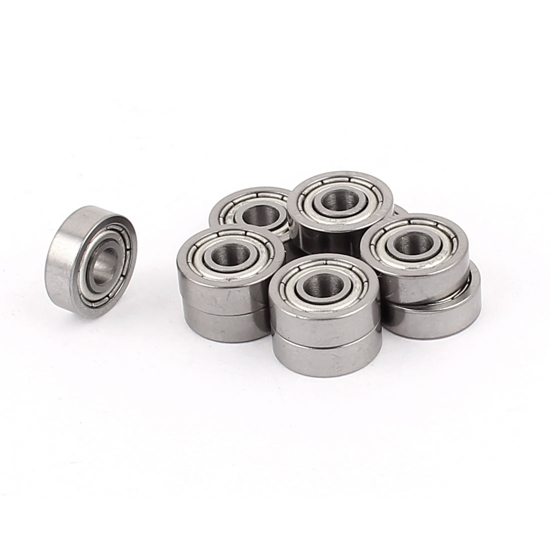 12mm x 4mm x 4mm Metal Sealed Double Shielded Deep Groove Ball Bearing 10Pcs