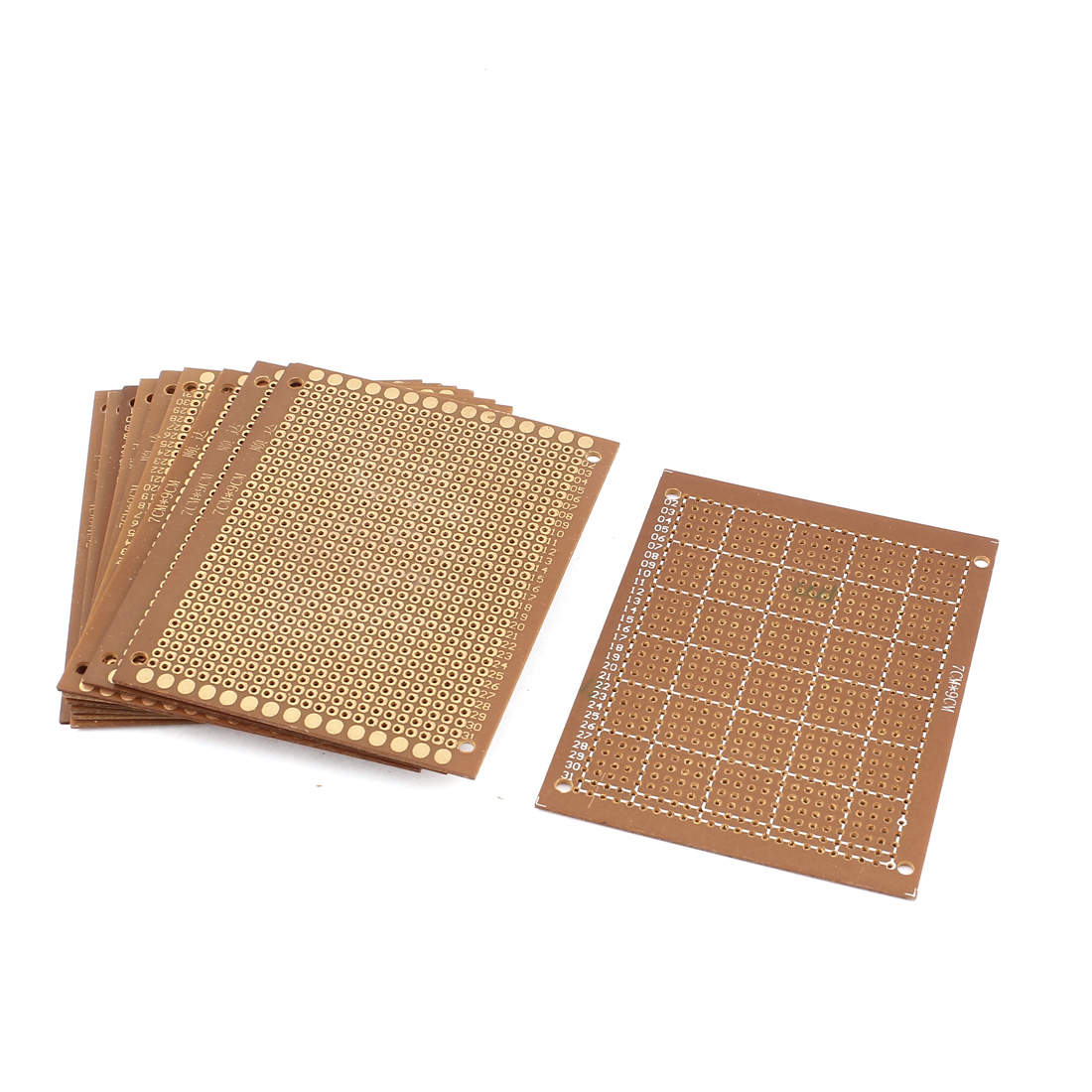 7 x 9cm Electronic DIY Prototype Paper Single Side PCB Universal Board Brown 10Pcs