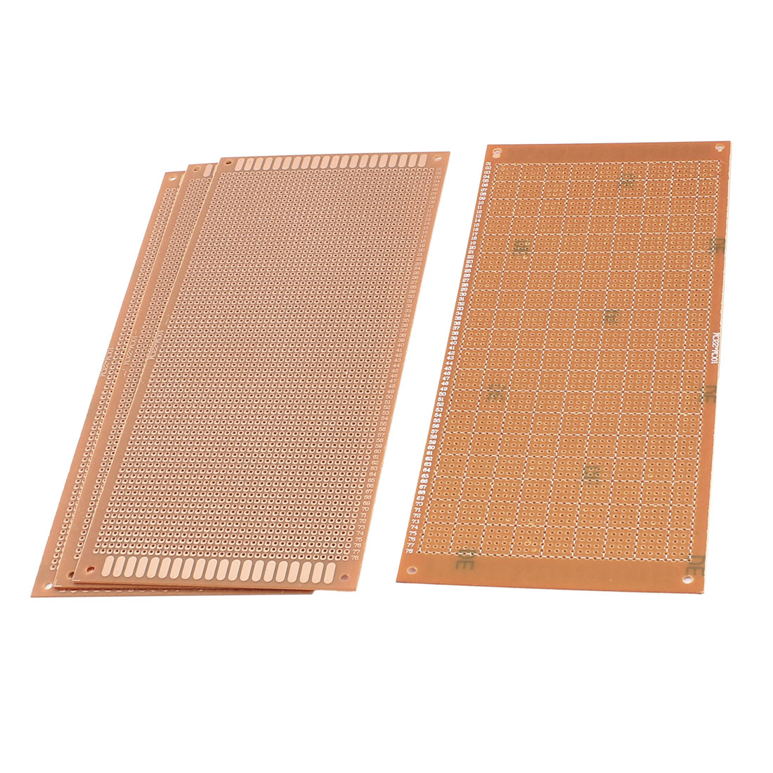 4Pcs 10 x 22cm Electronic DIY Prototype Paper Single Side PCB Board Brown