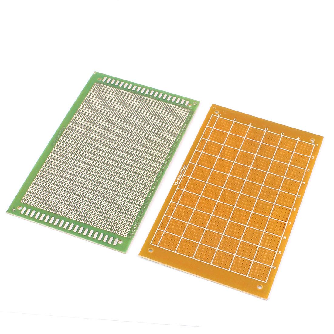 9cm x 15cm Electronic DIY Prototype Paper Single Side PCB Universal Board 2Pcs