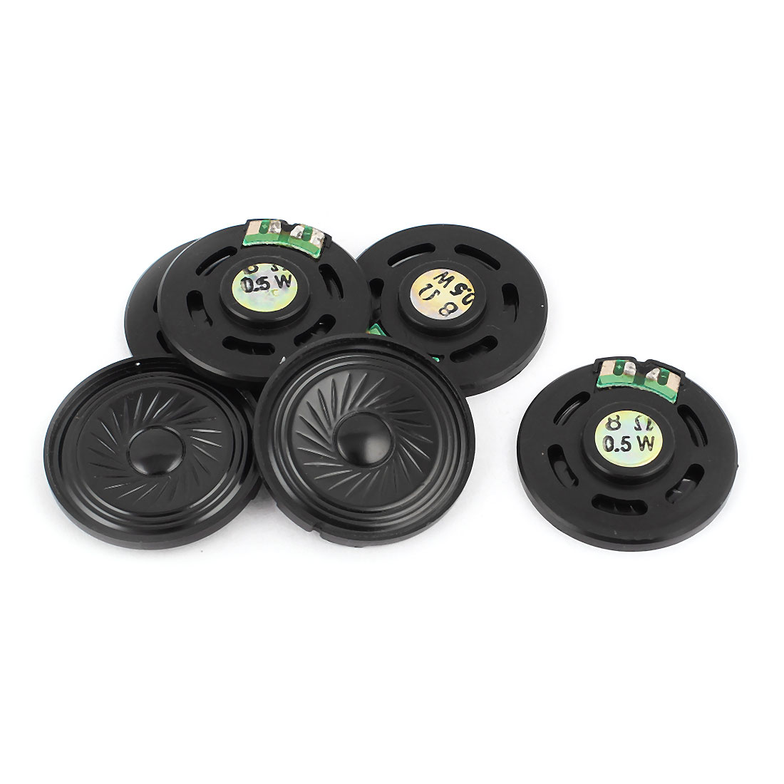 0.5W 40mm Diameter 8 Ohm Internal Mini Magnet Speaker Loudspeaker 6Pcs