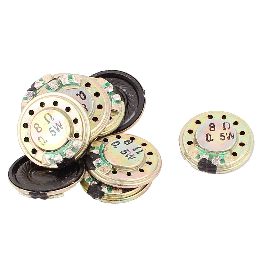 0.5W 20mm Diameter 8 Ohm Internal Mini Magnet Speaker Loudspeaker 10Pcs