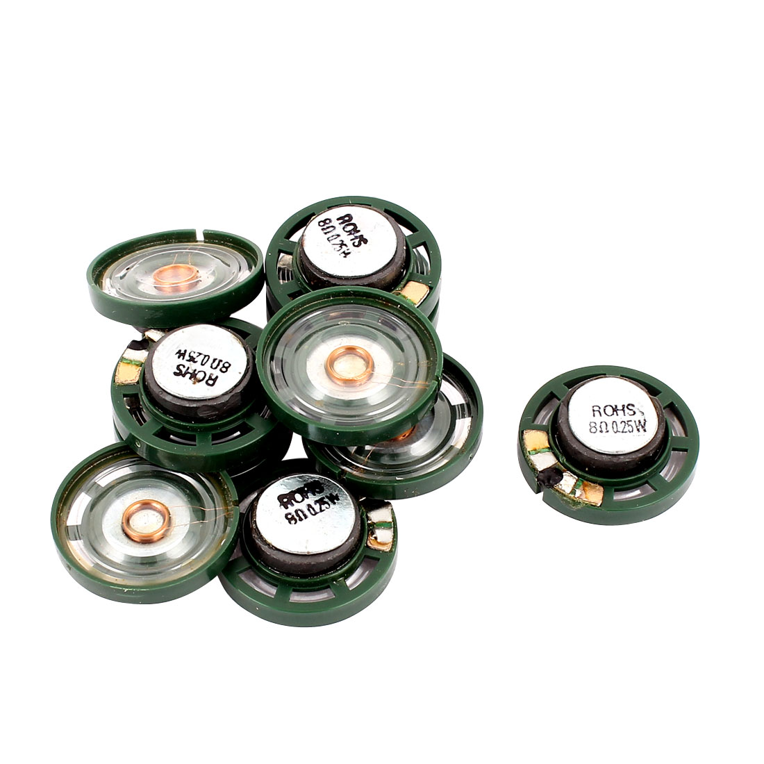 0.25W 27mm Diameter 8 Ohm Internal Mini Magnet Speaker Loudspeaker 10Pcs