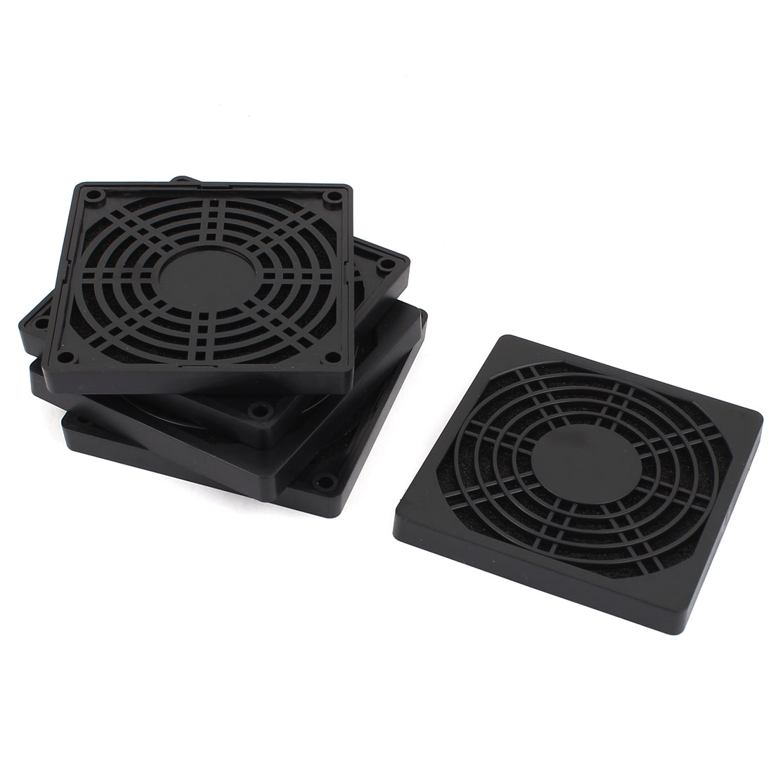 5Pcs Computer PC Dustproof Cooler Cooling Fan Case Cover Dust Filter Protector 90 x 90mm