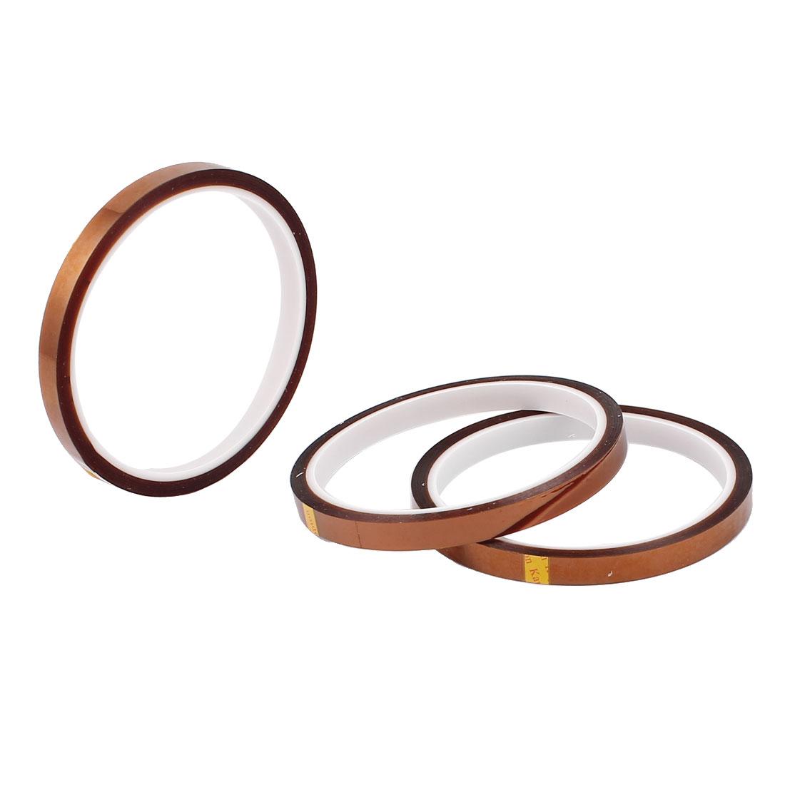 8mm Width 90mm Diameter High Temperature Resistant Tape 3Pcs
