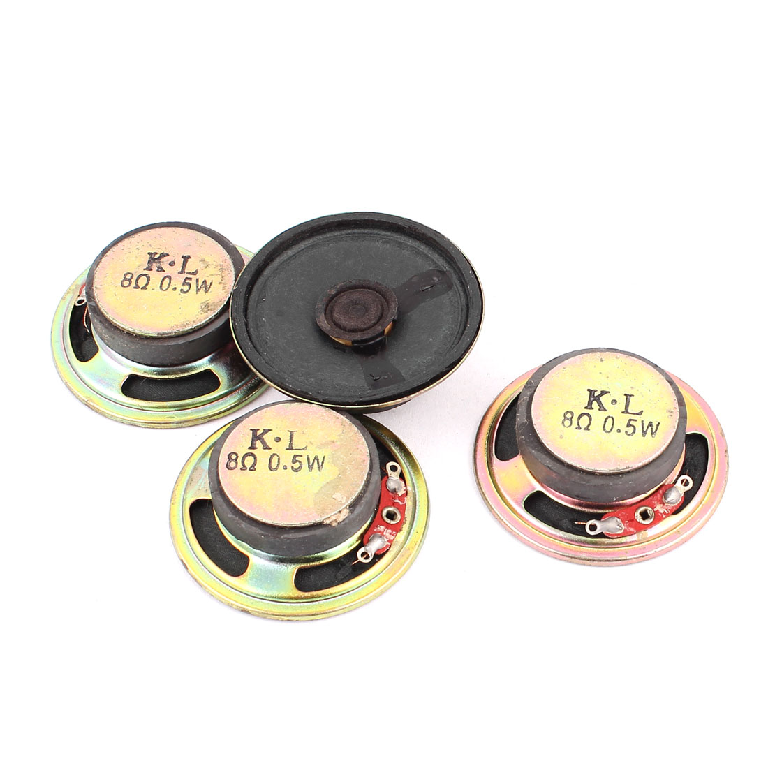 0.5W 8 Ohm 50mm Diameter External Magnet Speaker Loudspeaker 4Pcs