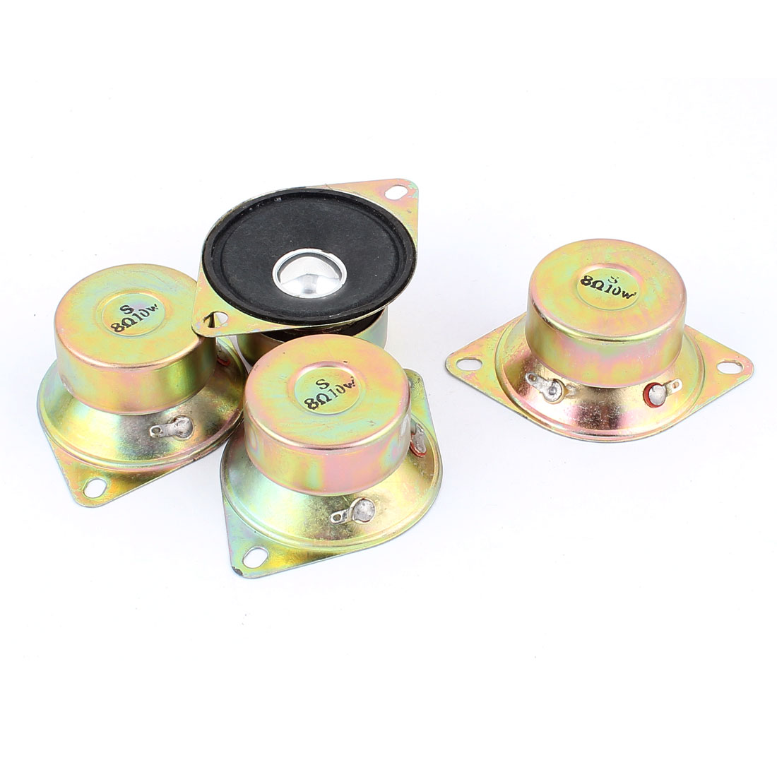10W 50mm Diameter 8 Ohm Internal Mini Magnet Speaker Loudspeaker 4Pcs