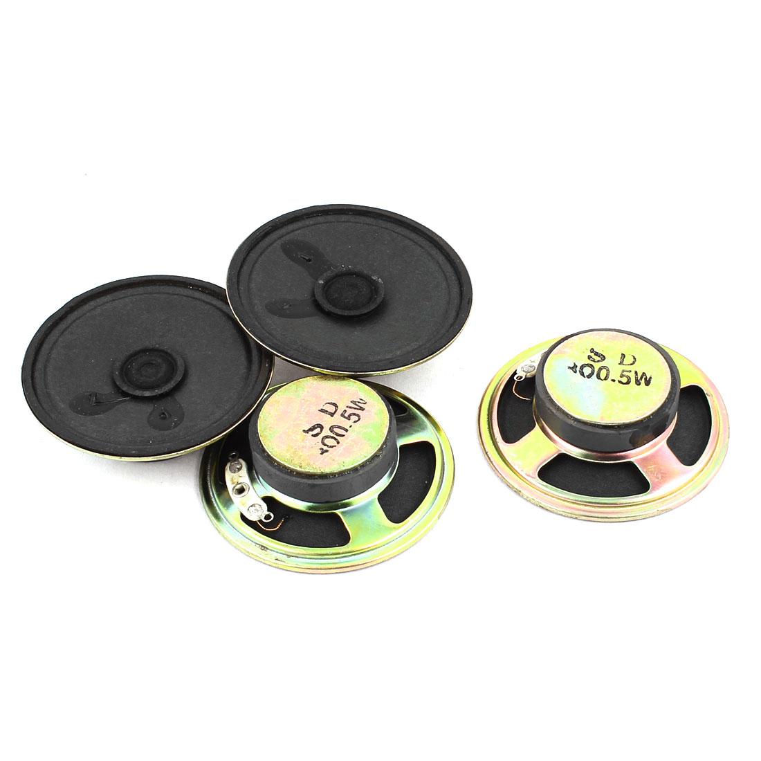 0.5W 57mm Diameter External Magnet Speaker Loudspeaker 4Pcs