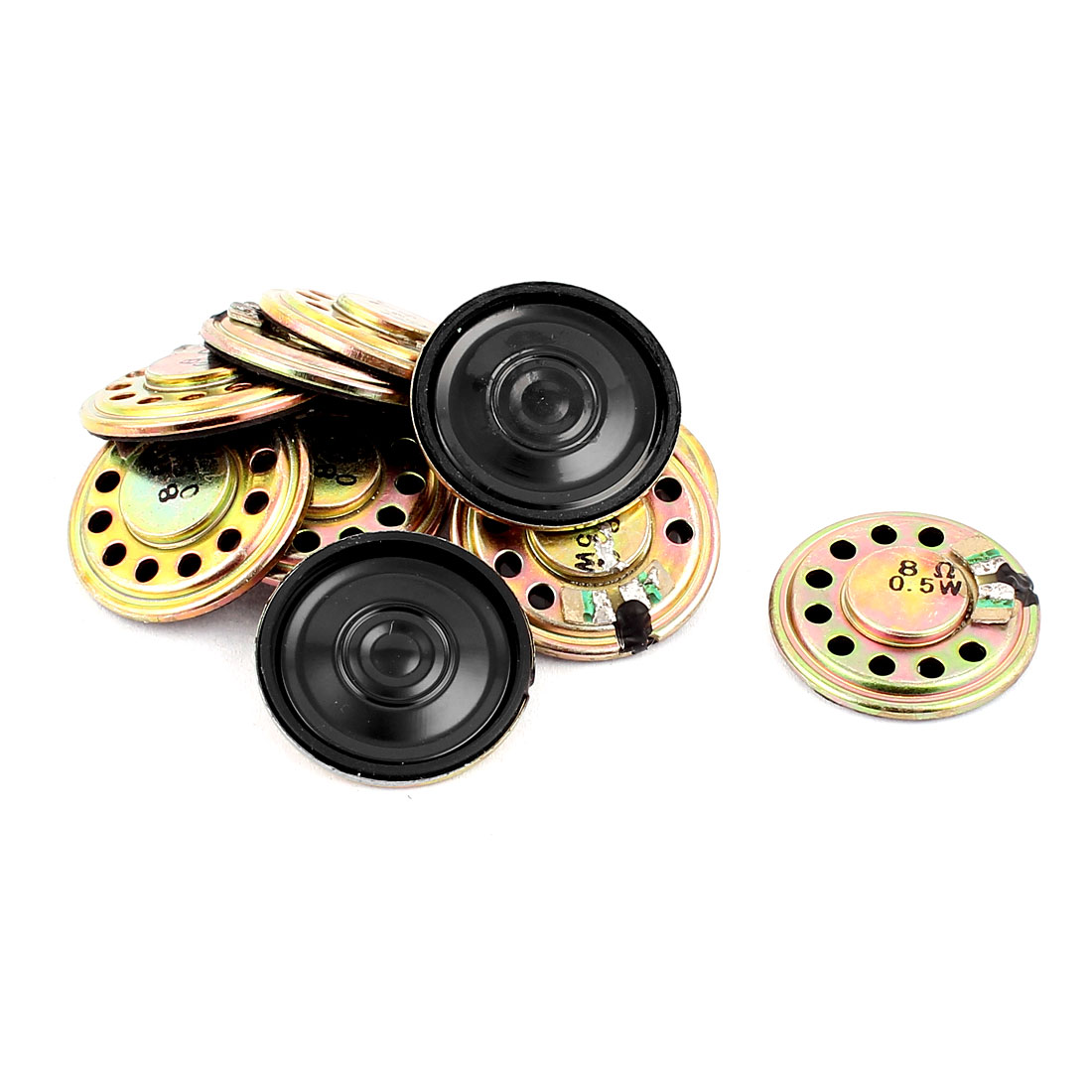 0.5W 28mm Diameter 8 Ohm Internal Mini Magnet Speaker Loudspeaker 10Pcs