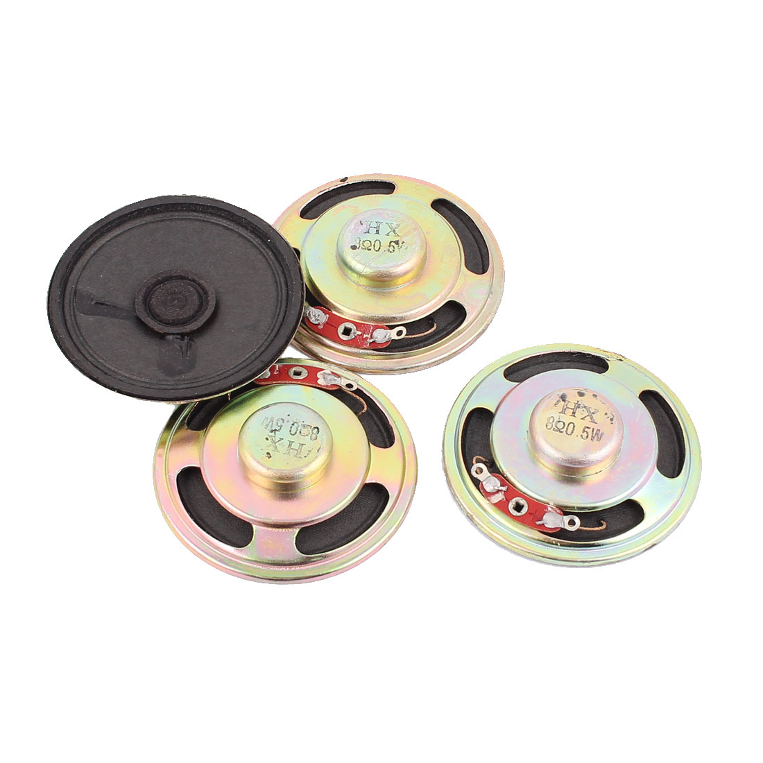 0.5W 8 Ohm 50mm Diameter Internal Magnet Speaker Loudspeaker 4Pcs