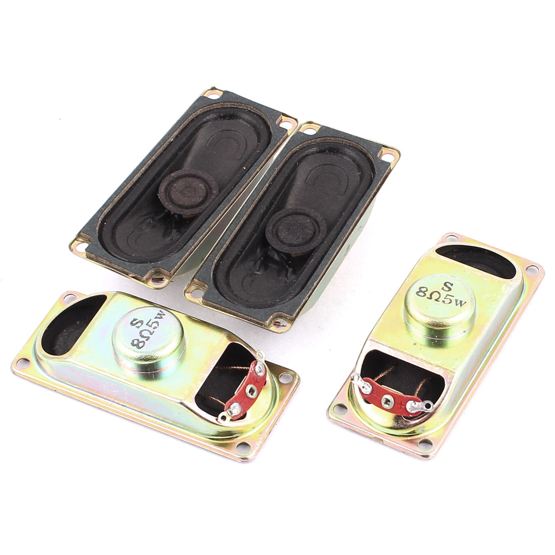 5W 8 Ohm Internal Magnet Speaker Loudspeaker 3 x 7 x 1.8cm 4Pcs