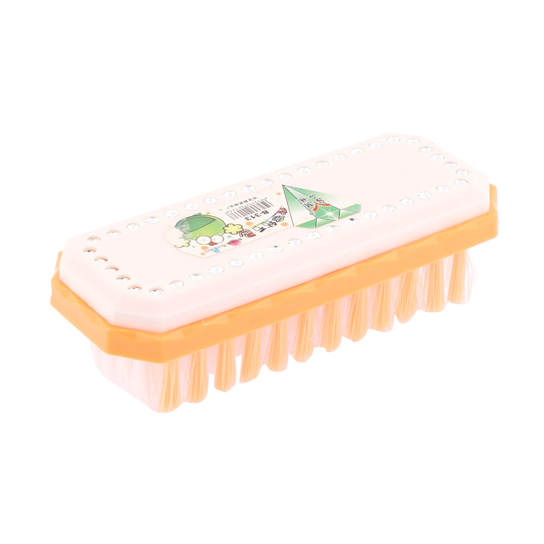 Home Laundry Clothes Shoes Scrubbing Brush Orange White