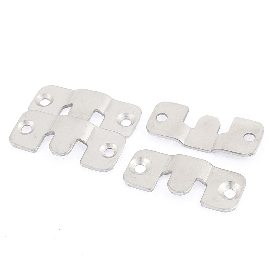 Furniture Photo Frame Stainless Steel Interlock Bracket Connector Hook 4 Pcs
