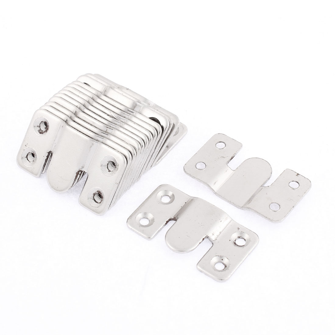 Home Sofa Metal Sectional Interlock Bracket Joint Connector Hanger Hook 15 Pcs