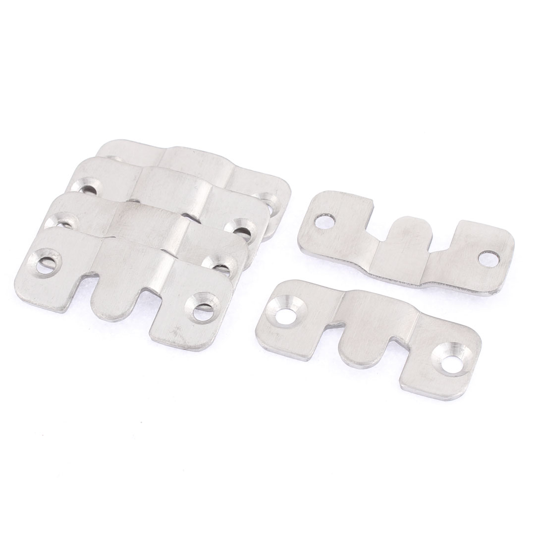 Furniture Photo Frame Stainless Steel Interlock Bracket Joint Connector Hook 6 Pcs