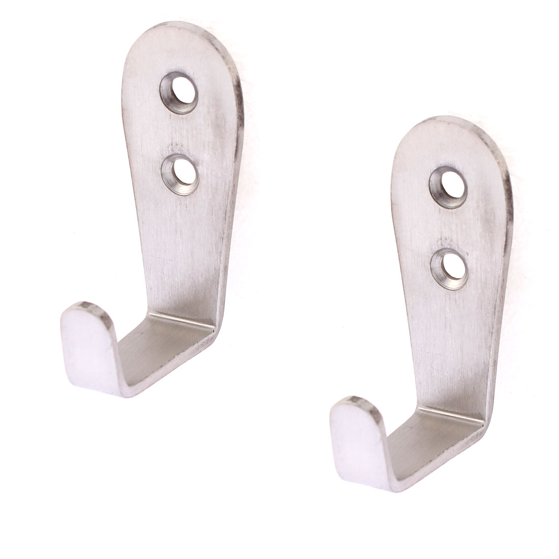 Home Kitchen Wall Mounted Clothes Handbag Hook Hanger 62mm Length 2pcs