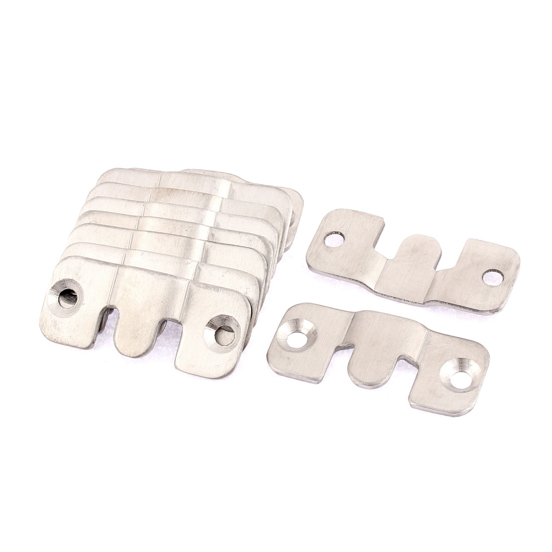 Sofa Photo Frame Stainless Steel Interlock Bracket Joint Connector Hook 10 Pcs