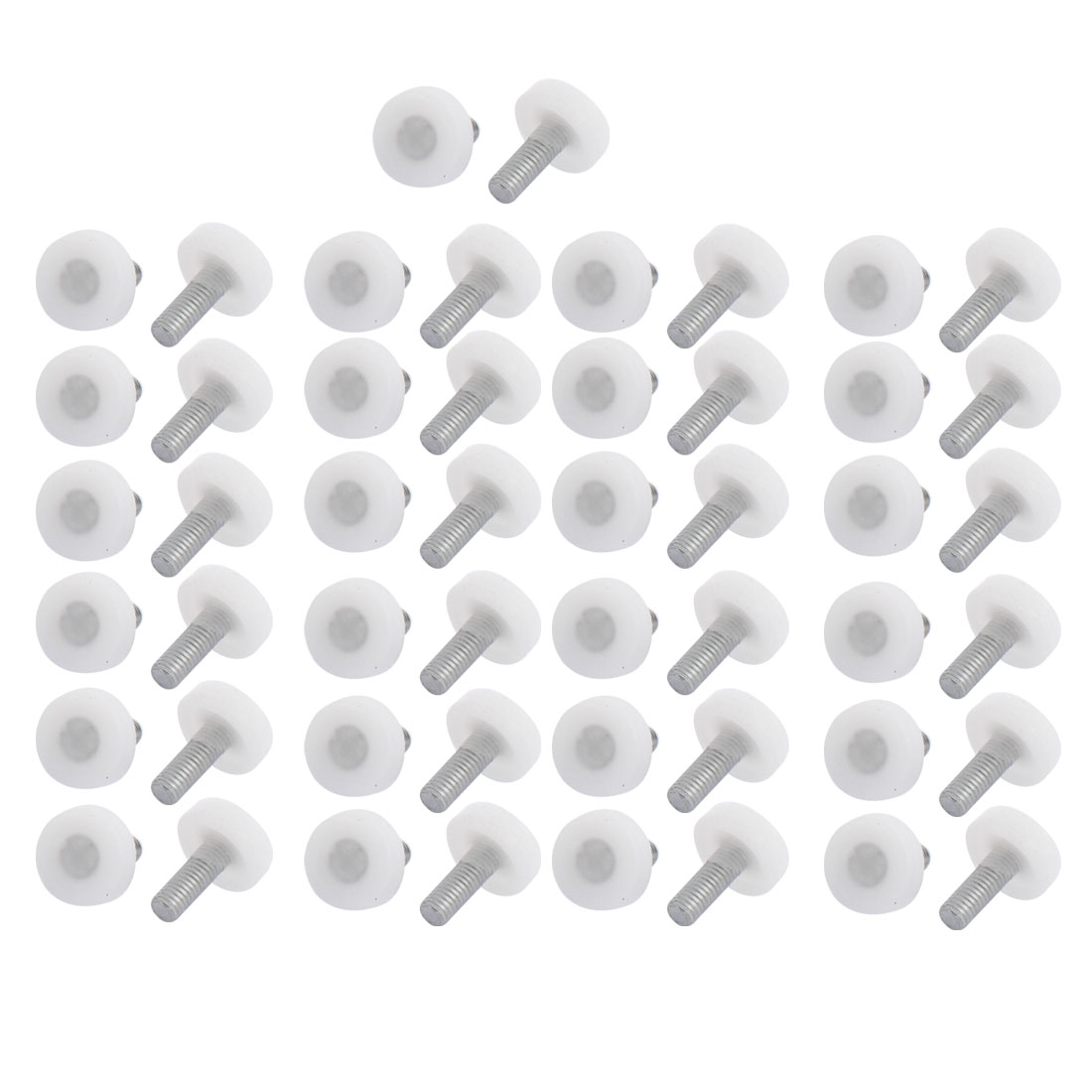 Plastic Base Adjustable Bumper Leveling Foot M8x20mm Thread 50PCS