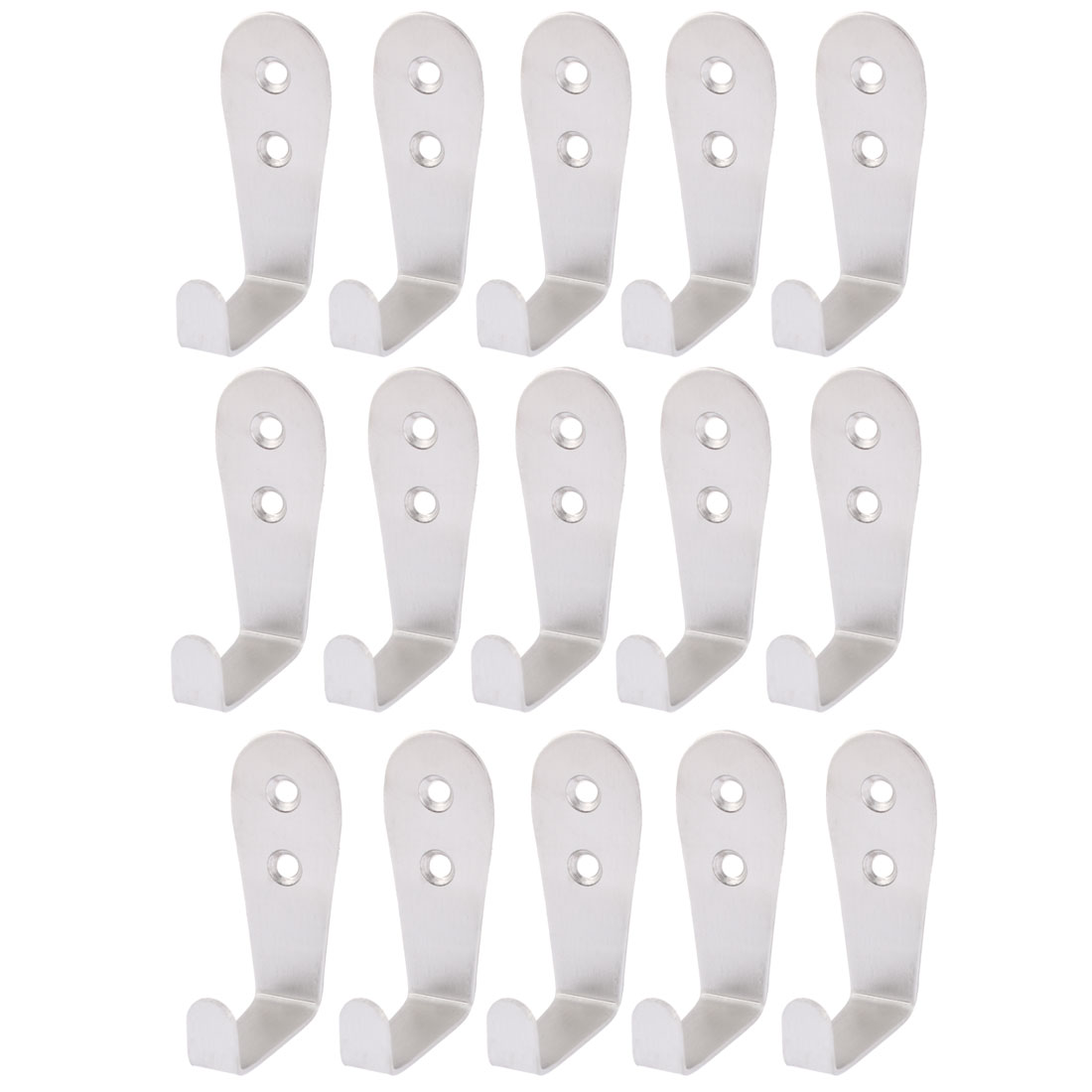 Home Kitchen Wall Mounted Clothes Coat Bag Hook Hanger Holder 15 Pcs