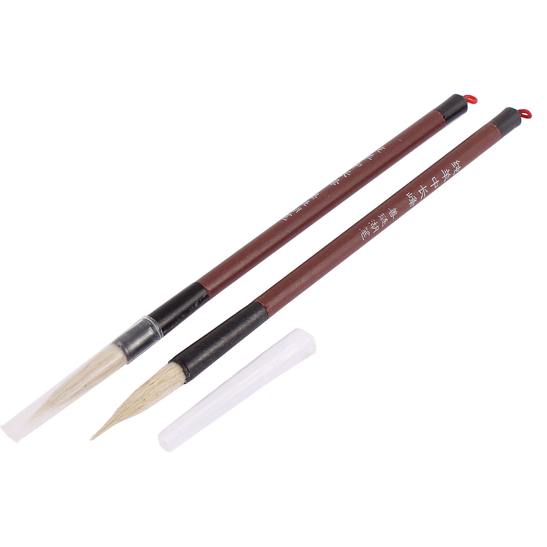 Faux Fur Head Chinese Calligraphy Hand Writing Brush 2PCS