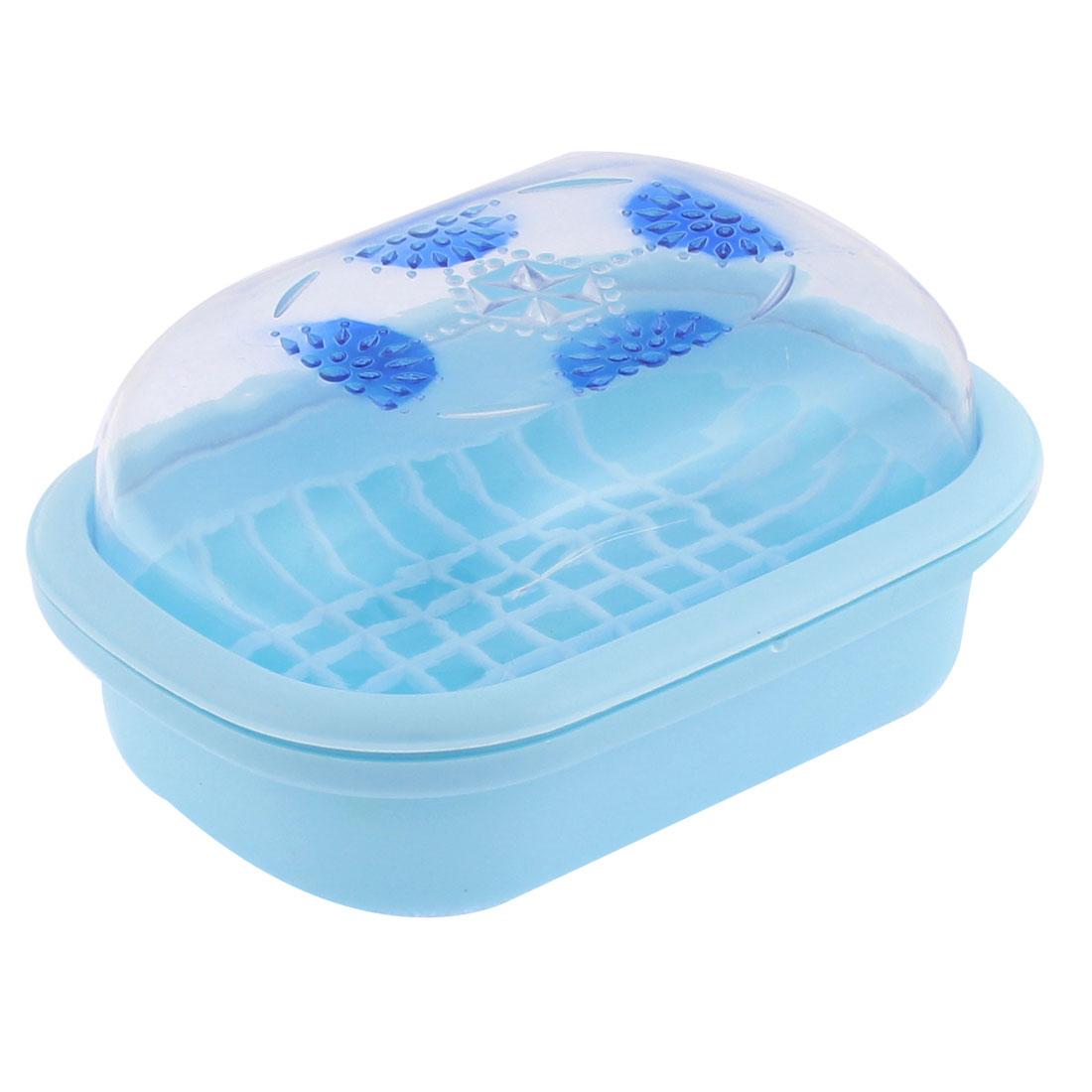 Home Bathroom Soap Dish Case Holder Box Sky Blue