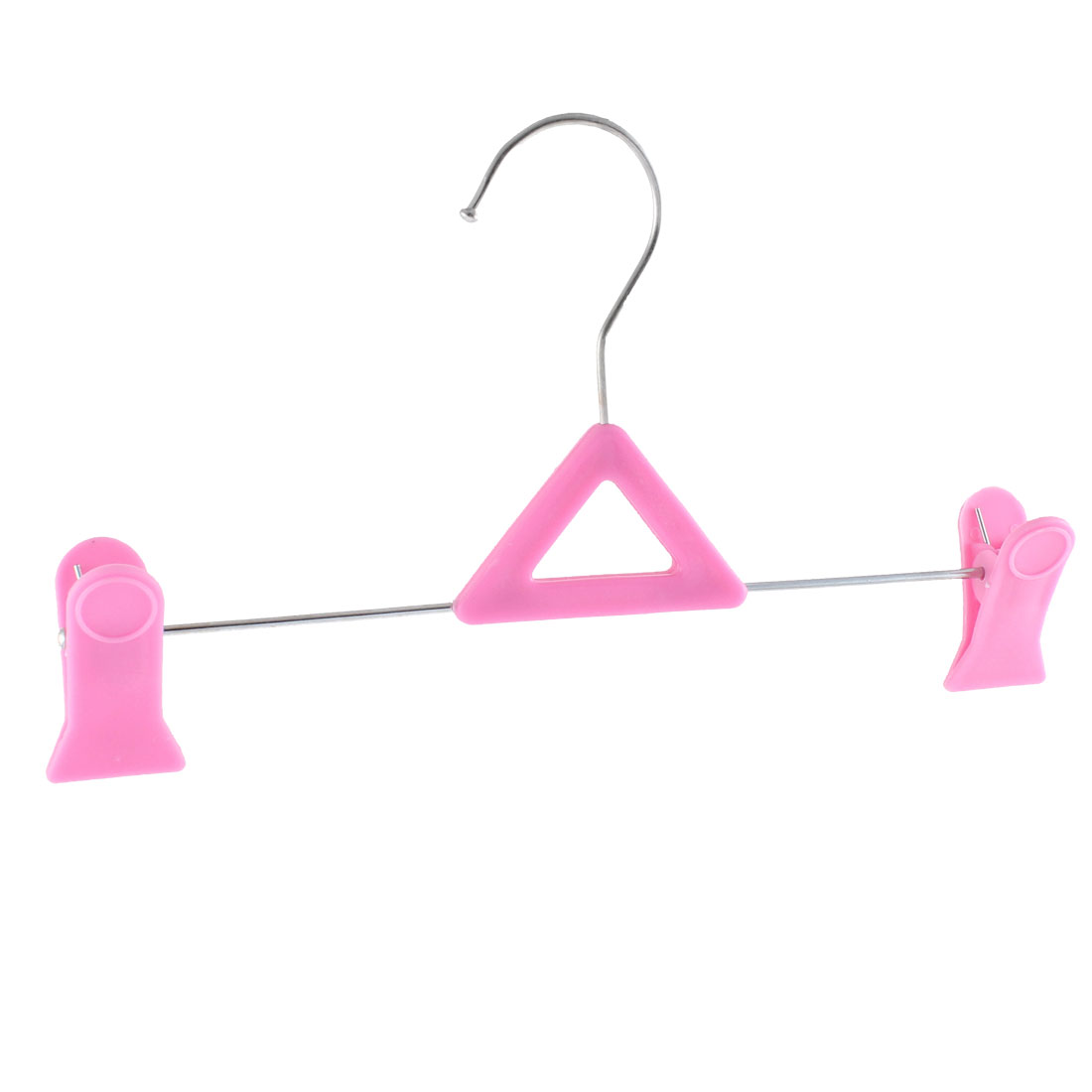 Clothes Shoes Socks Clips Hanger Drying Rack Pink