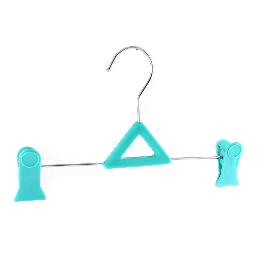 Clothes Socks Clip Hanger Peg Drying Rack Cyan Color