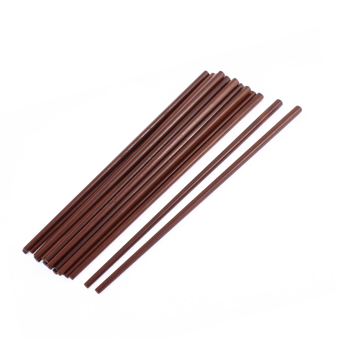 Restaurant Kitchen Hot Pot Chopsticks Coffee Color 10 Inch Length 10 Pairs