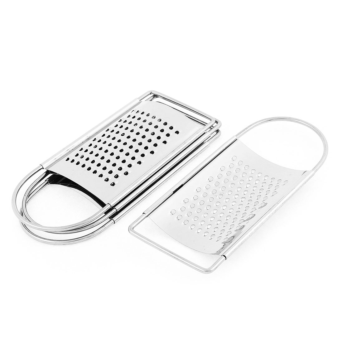 Home Kitchen Cheese Garlic Ginger Stainless Steel Flat Coarse Grater Zester 4 Pcs