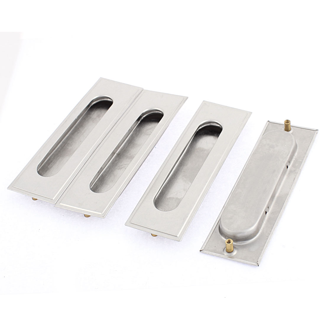Sliding Door Stainless Steel Recessed Flush Pull Handle 4PCS