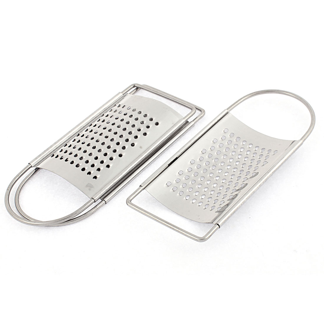 Home Kitchen Cheese Garlic Ginger Stainless Steel Flat Coarse Grater Zester 3 Pcs