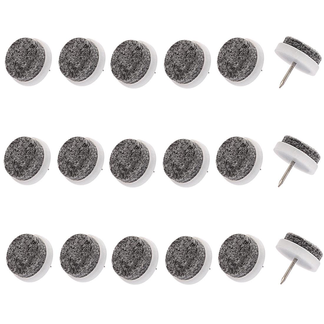 Furniture Round Felt Pads Nail Protectors 24mm Dia 18PCS