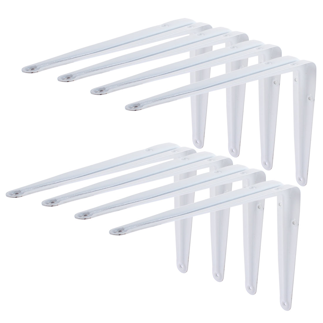10 Inch Length L Shape Baked Enamel Wall Shelf Support Bracket 8 Pcs
