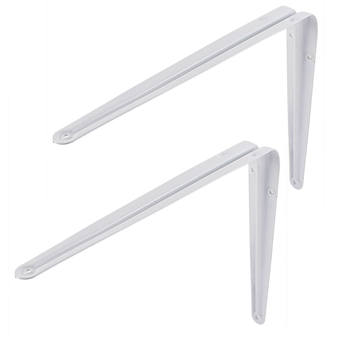 L Shape Baked Enamel Metal Wall Shelf Support Brackets 12 Inch Length 2 Pcs