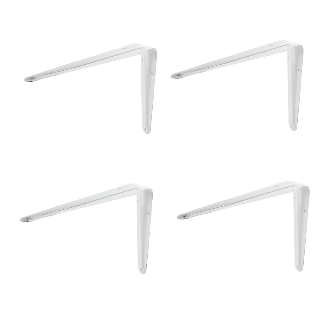 10 Inch Long Right Angle Baked Enamel Metal Wall Shelf Support Bracket 4 Pcs
